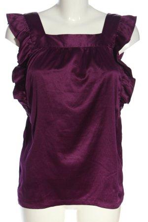Vero Moda Ruche blouse lila casual uitstraling