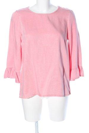 Vero Moda Ruche blouse roze casual uitstraling