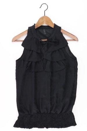 Vero Moda Rüschenbluse Größe S Ärmellos schwarz aus Polyester