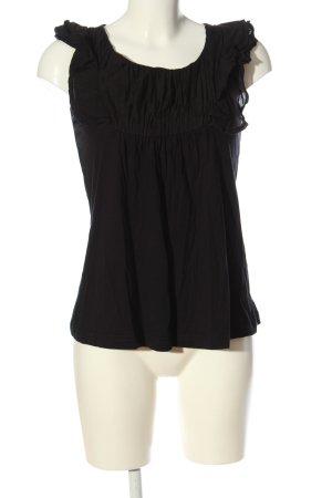 Vero Moda Top met franjes zwart casual uitstraling