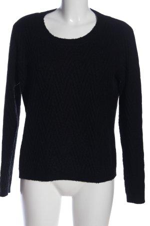 Vero Moda Rundhalspullover schwarz Casual-Look