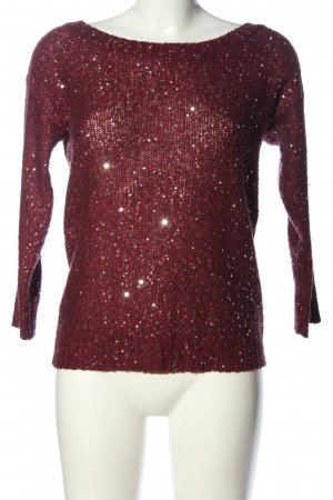 Vero Moda Crewneck Sweater red cable stitch casual look