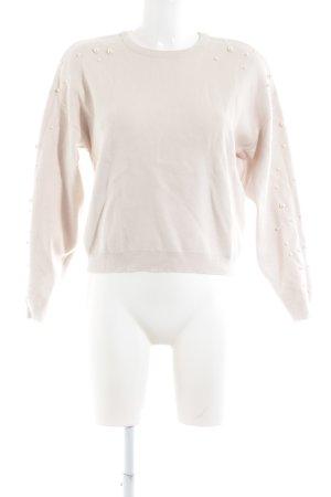 Vero Moda Rundhalspullover creme-weiß Casual-Look