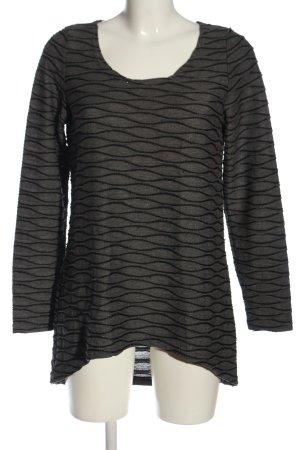 Vero Moda Strickpullover hellgrau-schwarz abstraktes Muster Casual-Look