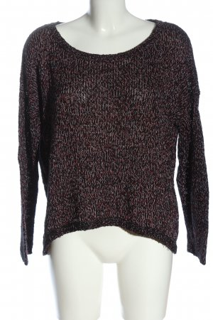Vero Moda Knitted Sweater black flecked casual look
