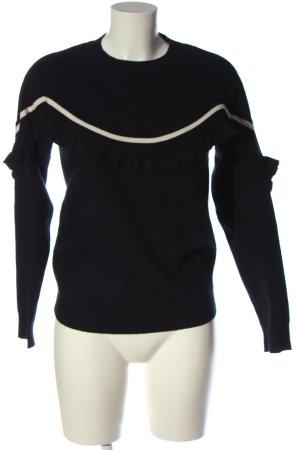 Vero Moda Rundhalspullover schwarz-weiß Casual-Look