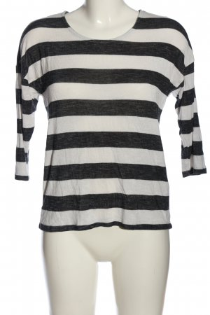 Vero Moda Rundhalspullover schwarz-weiß Allover-Druck Casual-Look