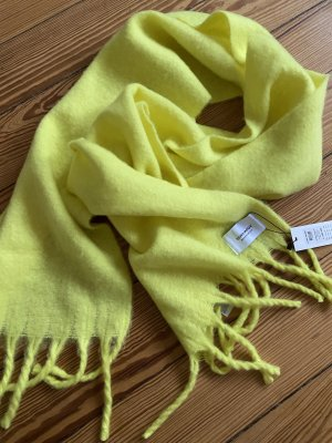 Vero Moda Écharpe à franges jaune polyester