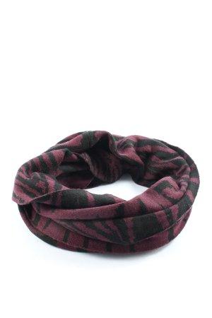 Vero Moda Bufanda tubo lila-negro estampado con diseño abstracto look casual