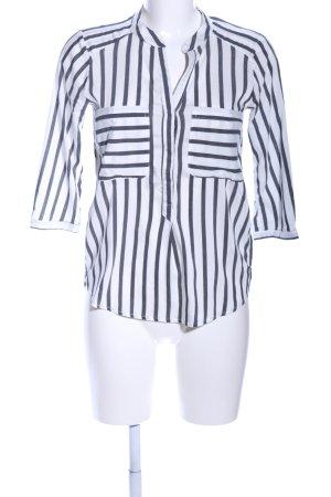 Vero Moda Schlupf-Bluse weiß-hellgrau Streifenmuster Casual-Look