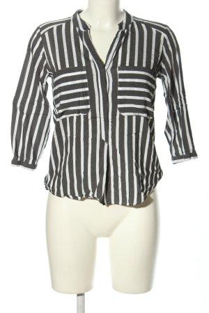 Vero Moda Schlupf-Bluse weiß-schwarz Streifenmuster Casual-Look