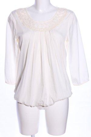 Vero Moda Schlupf-Bluse weiß-wollweiß Casual-Look