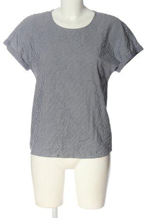 Vero Moda Schlupf-Bluse schwarz-weiß Streifenmuster Casual-Look