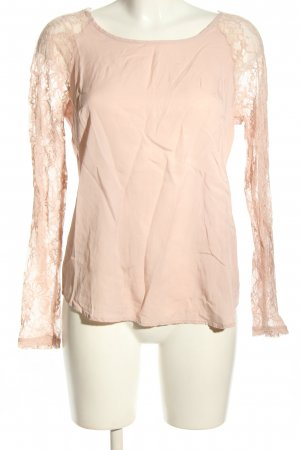 Vero Moda Schlupf-Bluse nude Blumenmuster Casual-Look
