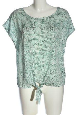 Vero Moda Schlupf-Bluse weiß-grün Allover-Druck Casual-Look