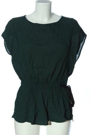 Vero Moda Schlupf-Bluse khaki-schwarz Casual-Look