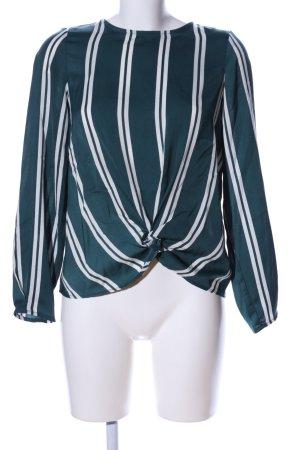 Vero Moda Schlupf-Bluse grün-weiß Streifenmuster Business-Look