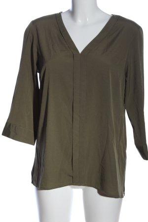 Vero Moda Schlupf-Bluse khaki Business-Look