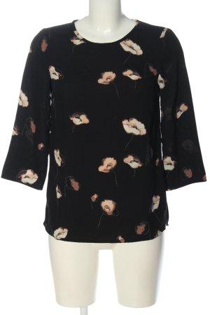 Vero Moda Schlupf-Bluse schwarz-braun Blumenmuster Casual-Look