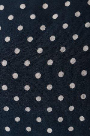 Vero Moda Schlupf-Bluse blau-weiß Punktemuster Casual-Look