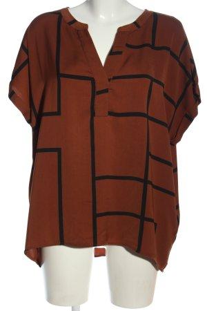 Vero Moda Blouse à enfiler brun-noir motif graphique style décontracté