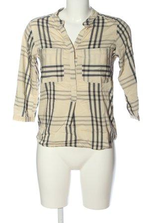 Vero Moda Schlupf-Bluse creme-schwarz Allover-Druck Business-Look