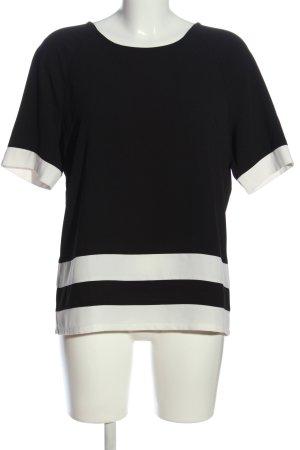 Vero Moda Schlupf-Bluse schwarz-weiß Streifenmuster Business-Look