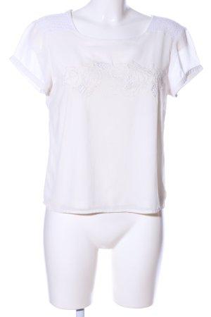 Vero Moda Schlupf-Bluse wollweiß Casual-Look