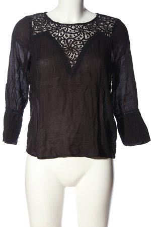 Vero Moda Schlupf-Bluse schwarz Casual-Look