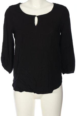 Vero Moda Schlupf-Bluse schwarz Business-Look