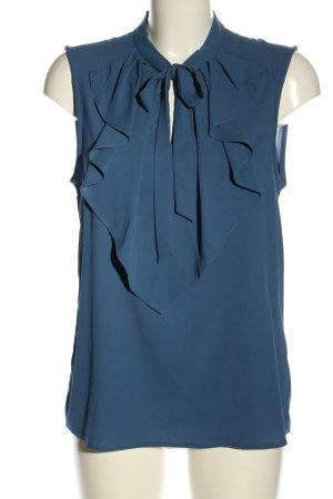 Vero Moda Schluppen-Bluse blau Casual-Look