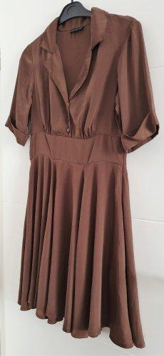 Vero Moda schönes braunes Kleid 3/4 Arm Kleid Gr. 38