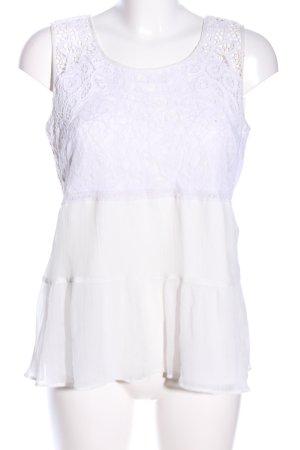 Vero Moda Peplum Top white mixed pattern casual look