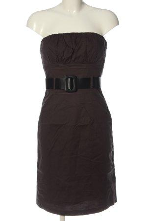 Vero Moda schulterfreies Kleid braun-schwarz Elegant