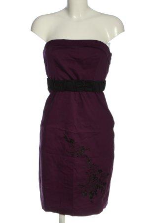 Vero Moda schulterfreies Kleid lila-schwarz Elegant