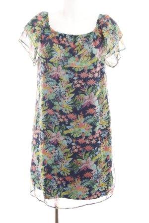 Vero Moda schulterfreies Kleid Allover-Druck Casual-Look