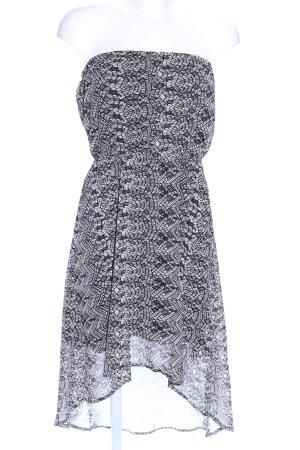Vero Moda Sukienka bez ramiączek jasnoszary-czarny Abstrakcyjny wzór
