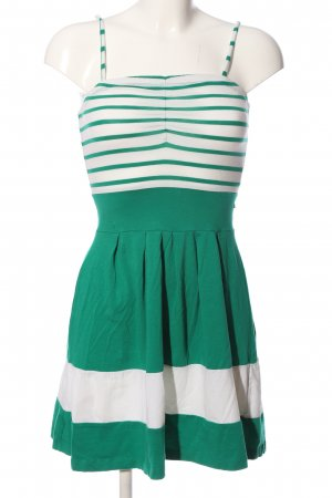Vero Moda Trägerkleid grün-weiß Streifenmuster Casual-Look