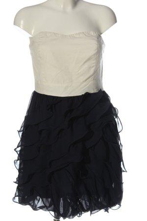 Vero Moda schulterfreies Kleid weiß-schwarz Elegant