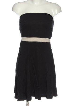 Vero Moda schulterfreies Kleid schwarz-wollweiß Casual-Look
