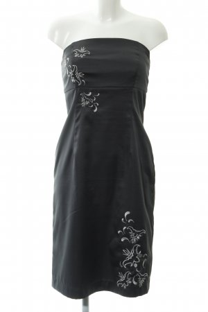 Vero Moda schulterfreies Kleid anthrazit-hellgrau Elegant