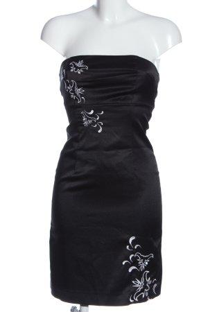 Vero Moda schulterfreies Kleid schwarz Motivdruck Elegant