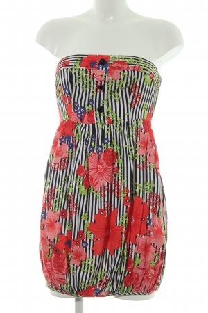 Vero Moda schulterfreies Kleid Blumenmuster Casual-Look