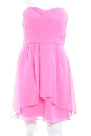 Vero Moda schulterfreies Kleid neonpink extravaganter Stil