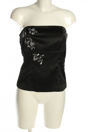 Vero Moda Off-The-Shoulder Top black-white flower pattern casual look