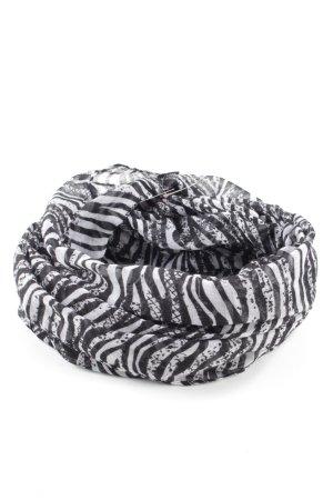 Vero Moda Schoudersjaal wit-zwart abstract patroon zakelijke stijl