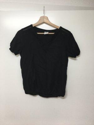 Vero Moda / schwarze Bluse mit lässigen Details