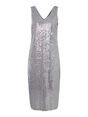 Vero Moda SEQUINED DRESS kleid silver