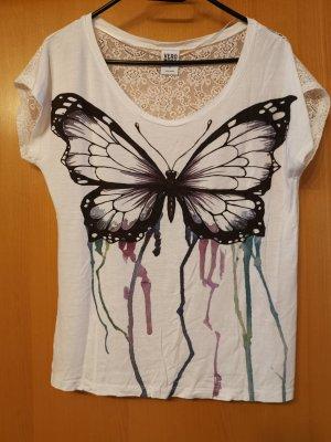 Vero Moda Siateczkowa koszulka biały