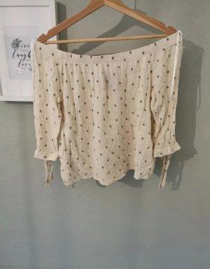 Vero Moda Camicia cropped nero-beige chiaro